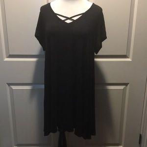 1X Arizona Black Simple Dress